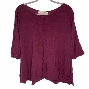 Anthro sparrow knit swing top